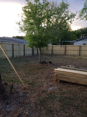Our *new* fence!