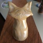 LIttle cat sculpture