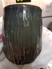John Britt's Floating Blue 2 on this carved cup.