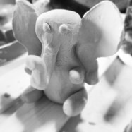 Custom elephant sculpture for a mum-to-be.